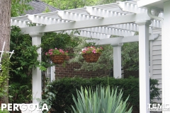 White Fixed Pergola