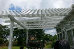 White Operable Pergola