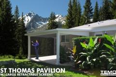 St Thomas Pavilion w/Large Retractable Screens
